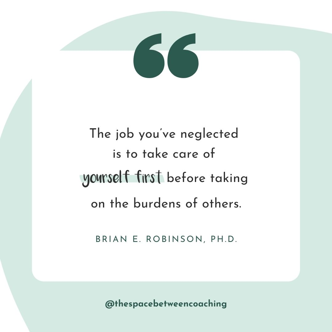 Neglecting yourself leads to burnout